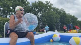 Resident enjoying Vintage Splash Bash