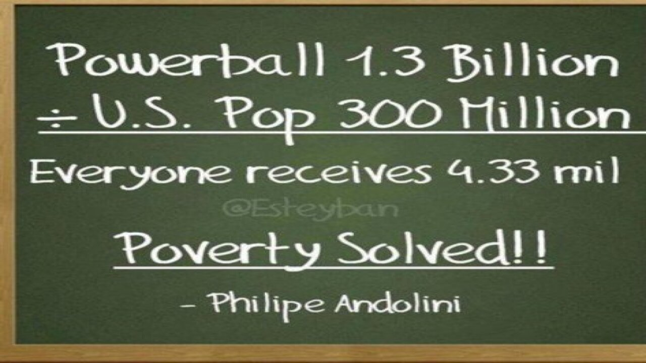 Can we all get $4 million if we share Powerball?