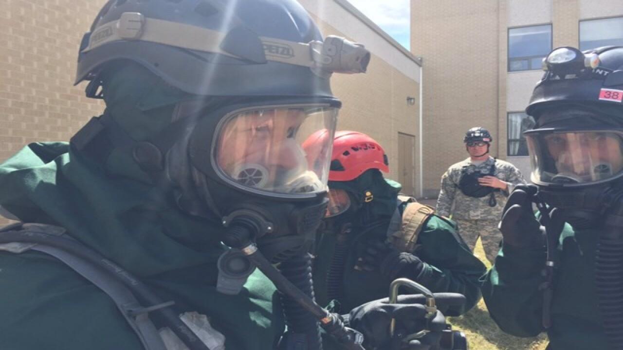 Military members train for terrorist attacks