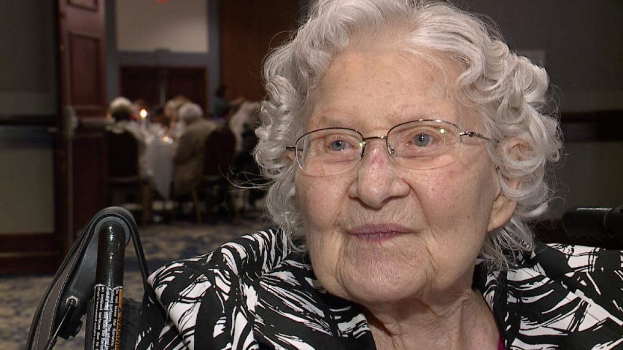 100 years of life isn't slowing down this volunteer