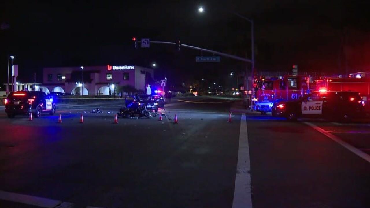 Motorcyclist critical after violent crash