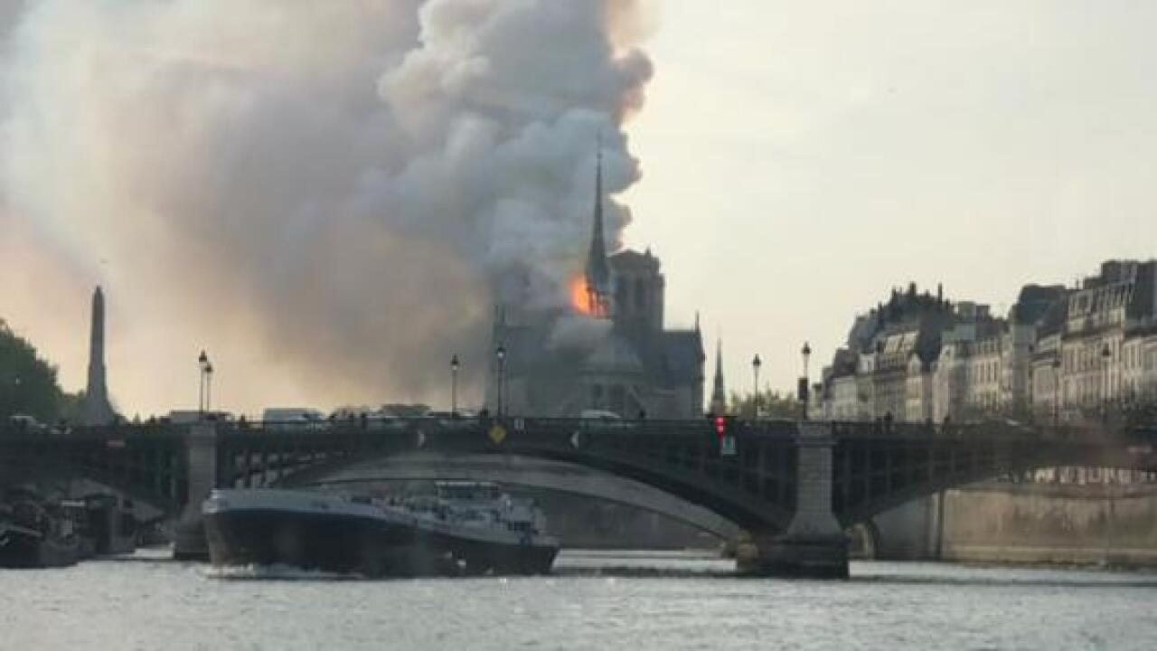 Notre-Dame Cathedral in Paris is on fire, reports say