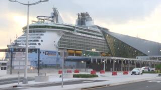 Royal Caribbean's Freedom of the Seas returns to Port Miami after simulated cruise