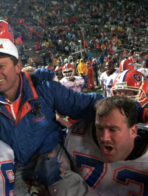 Steve Spurrier after Florida Gators won SEC championship in 1993