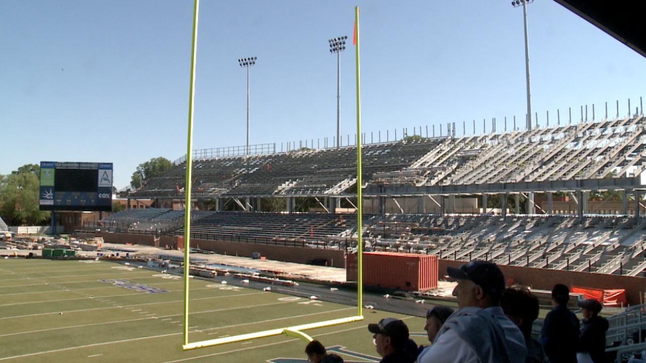 ODU football gives fans a sneak peek at S.B. Ballard stadiumrenovations
