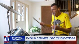 Booming Forward: 77-year-old drummer