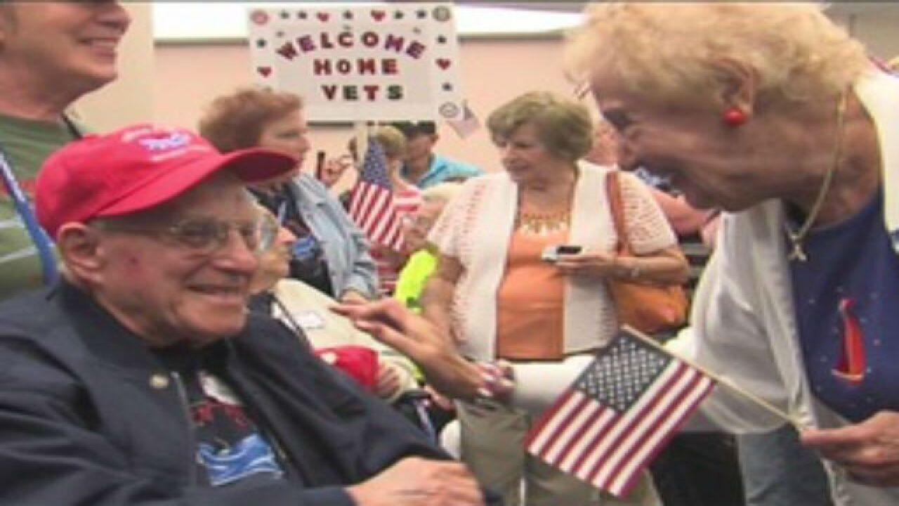 Emotional welcome home for veterans at PBIA