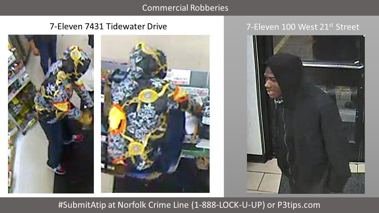 Norfolk Police searching for suspects in 2 separate 7-Eleven robberies overnight