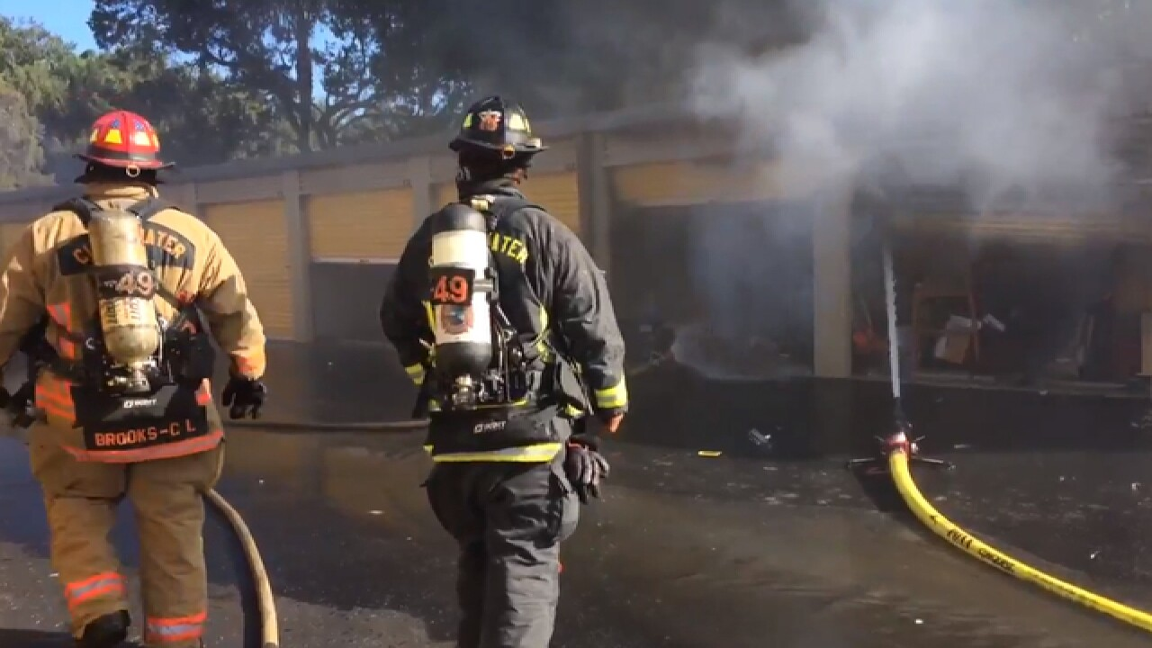 Fire Fighters Battle Two Alarm Fire At Uncle Bob S Storage