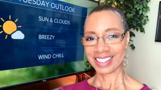 Sherry Hughes in a photo dated April 21, 2020, that she posted on her Facebook page. She is smiling and wearing glasses in this photo, and her hair is growing back.