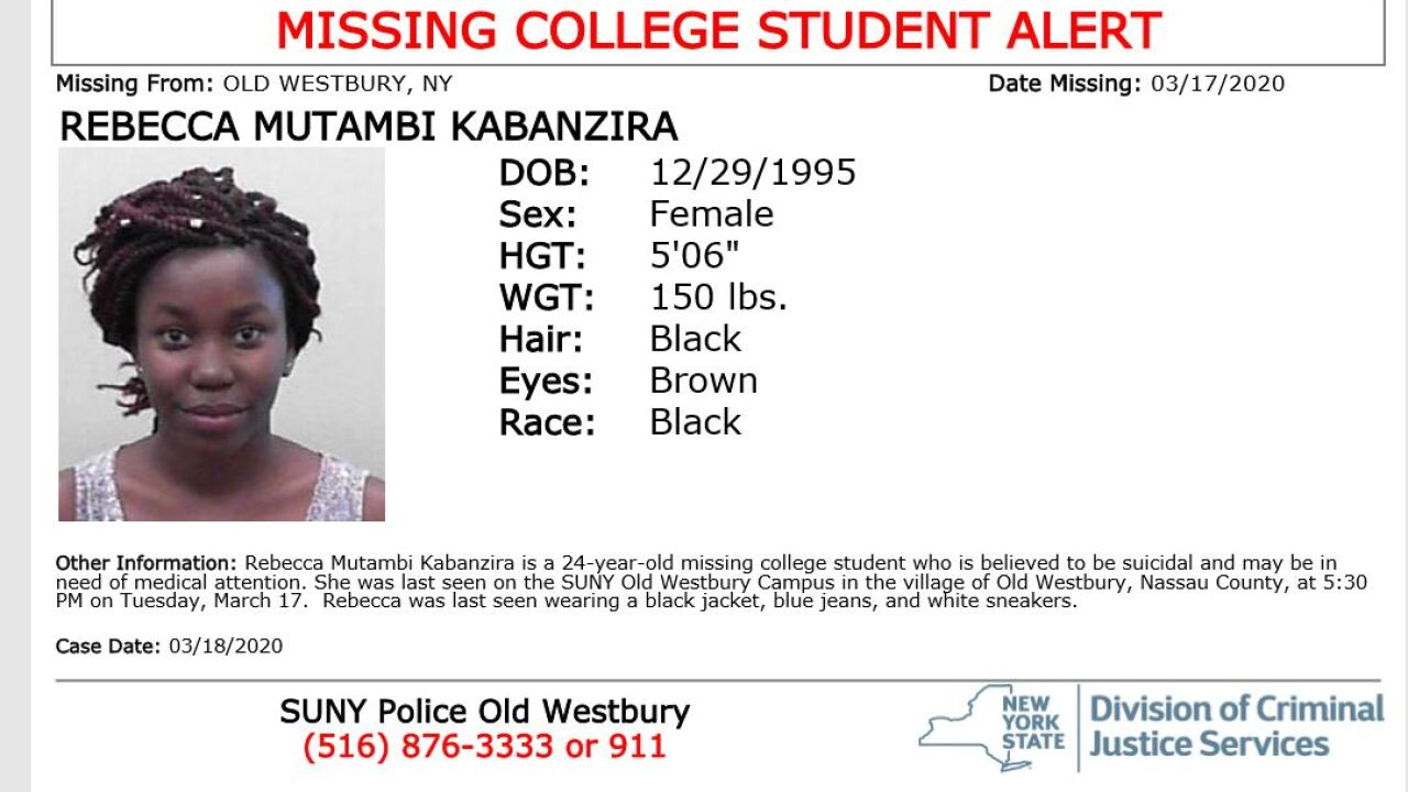 missing college student rebecca kabanzira
