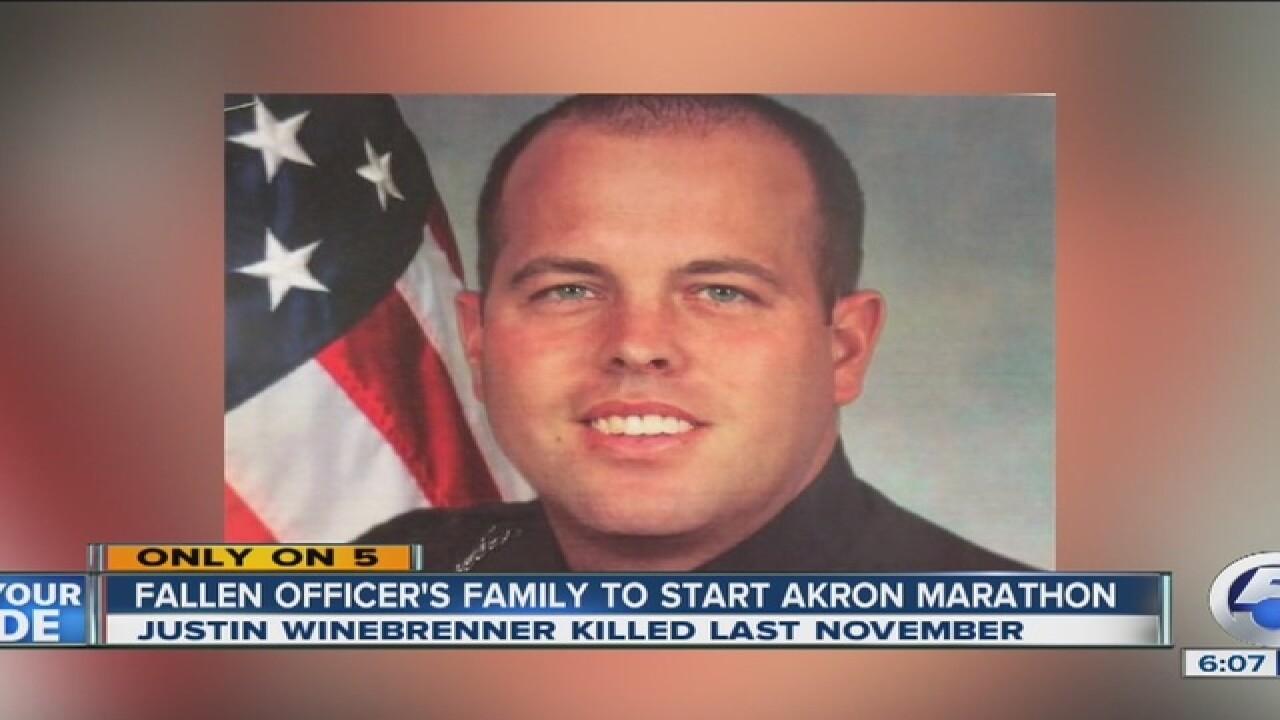 Family of fallen officer starts Akron Marathon