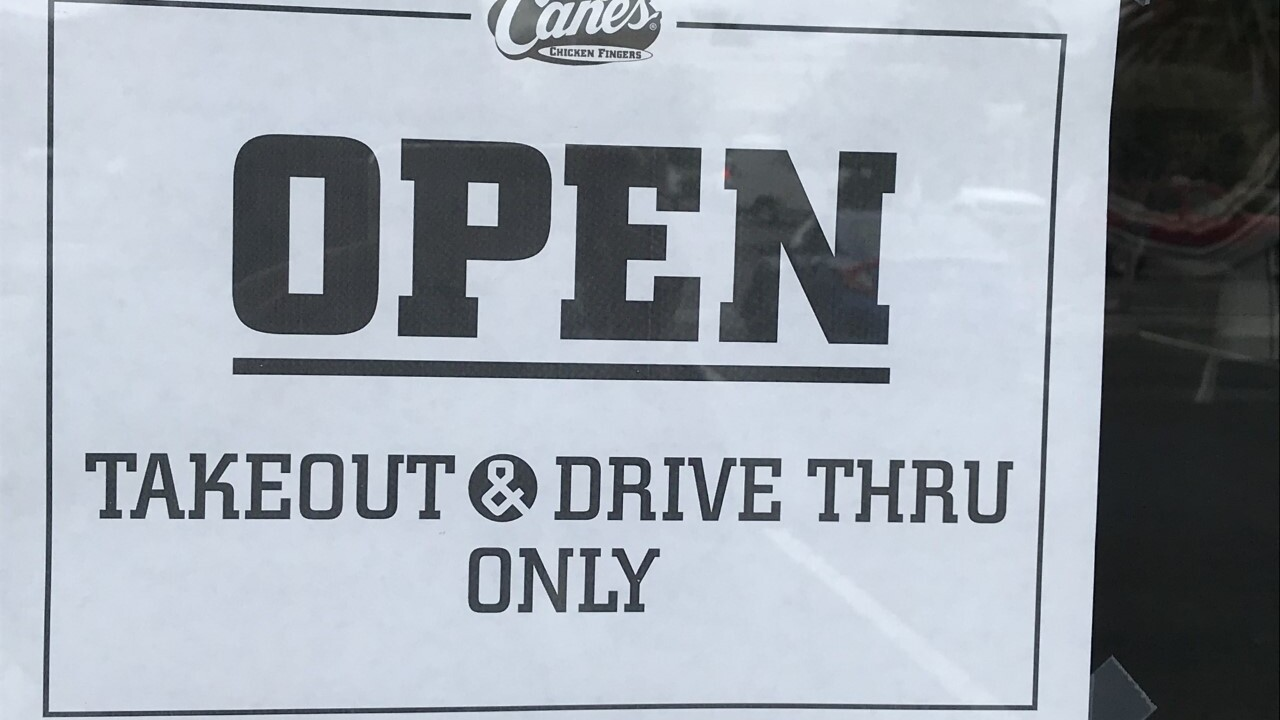 Drive-thru and takeout only