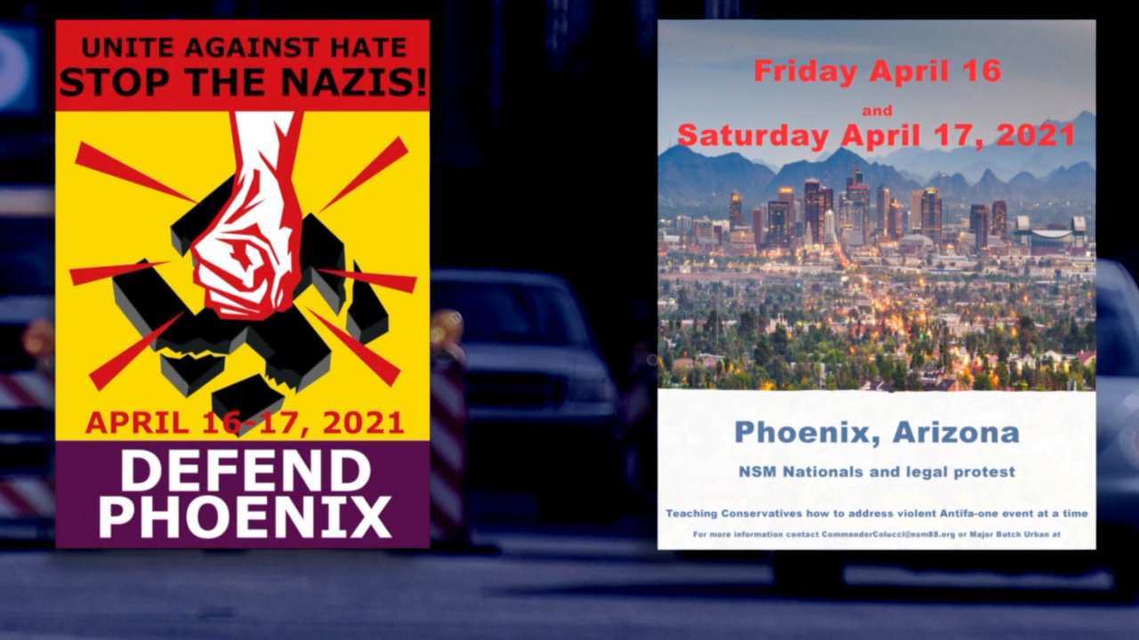 Neo-Nazi group planning protest in Phoenix, counter-protest forming