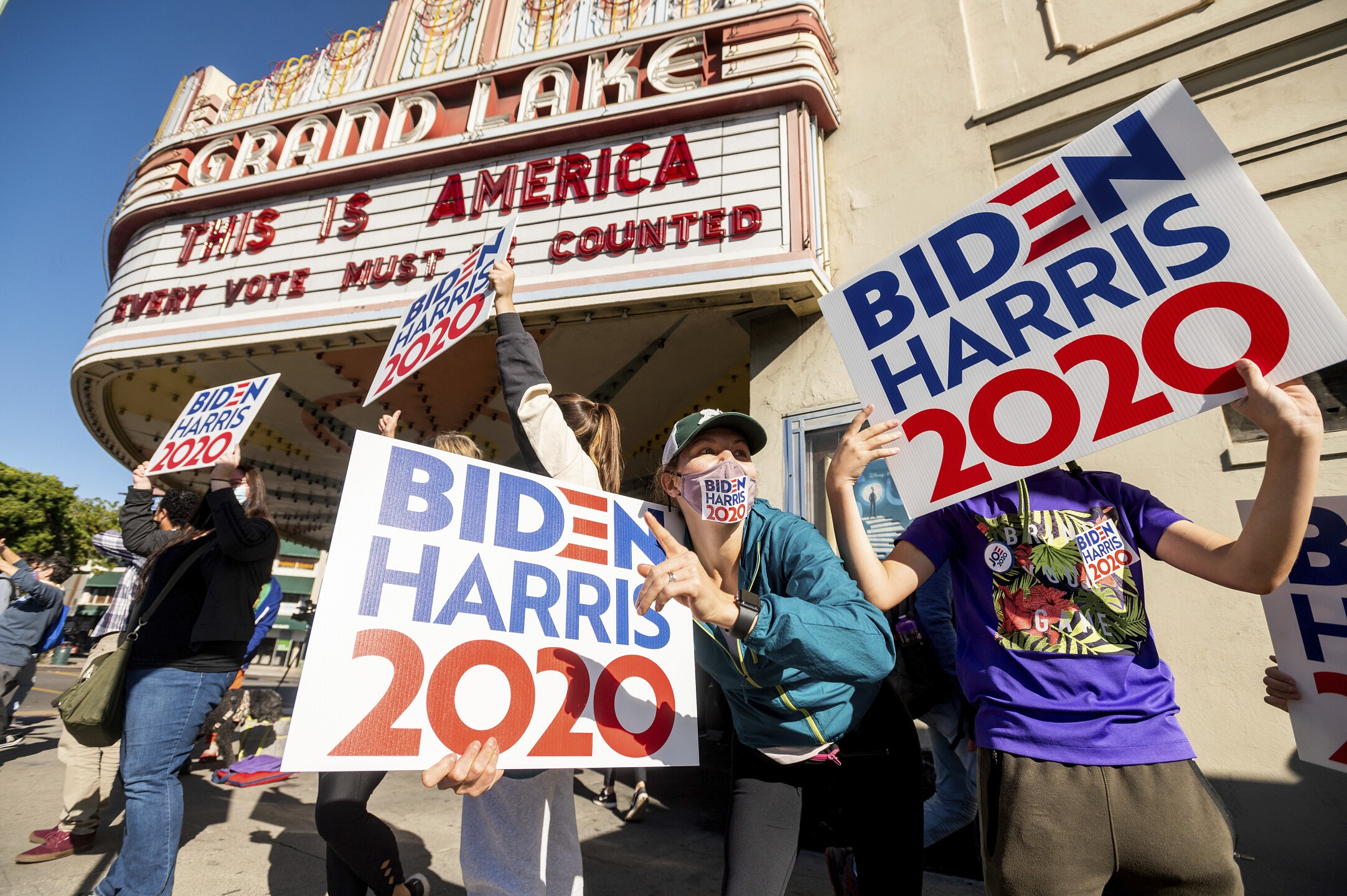 APTOPIX Election 2020 California