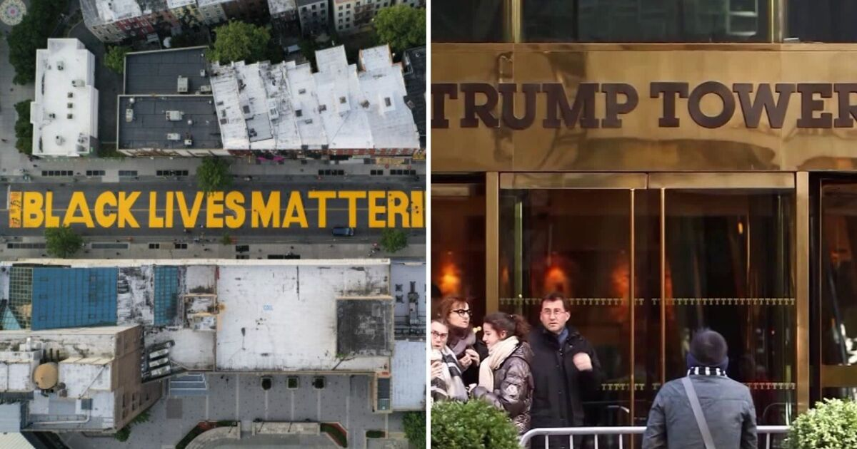 Black Lives Matter mural outside Trump Tower to be painted along 5th Ave. Thursday: reports