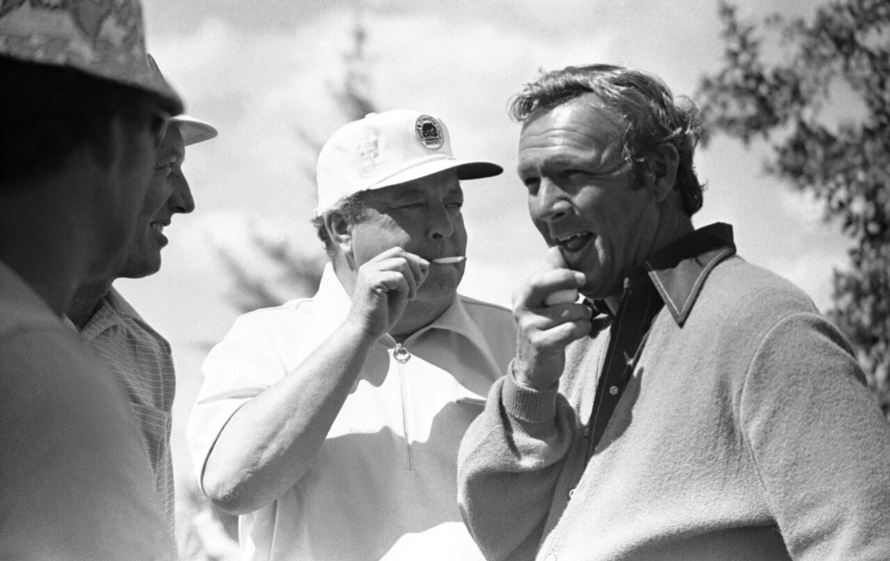 Arnold Palmer with Jackie Gleason at Inverrary in 1972