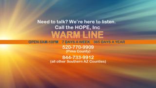 HOPE free warm line to help with mental illness