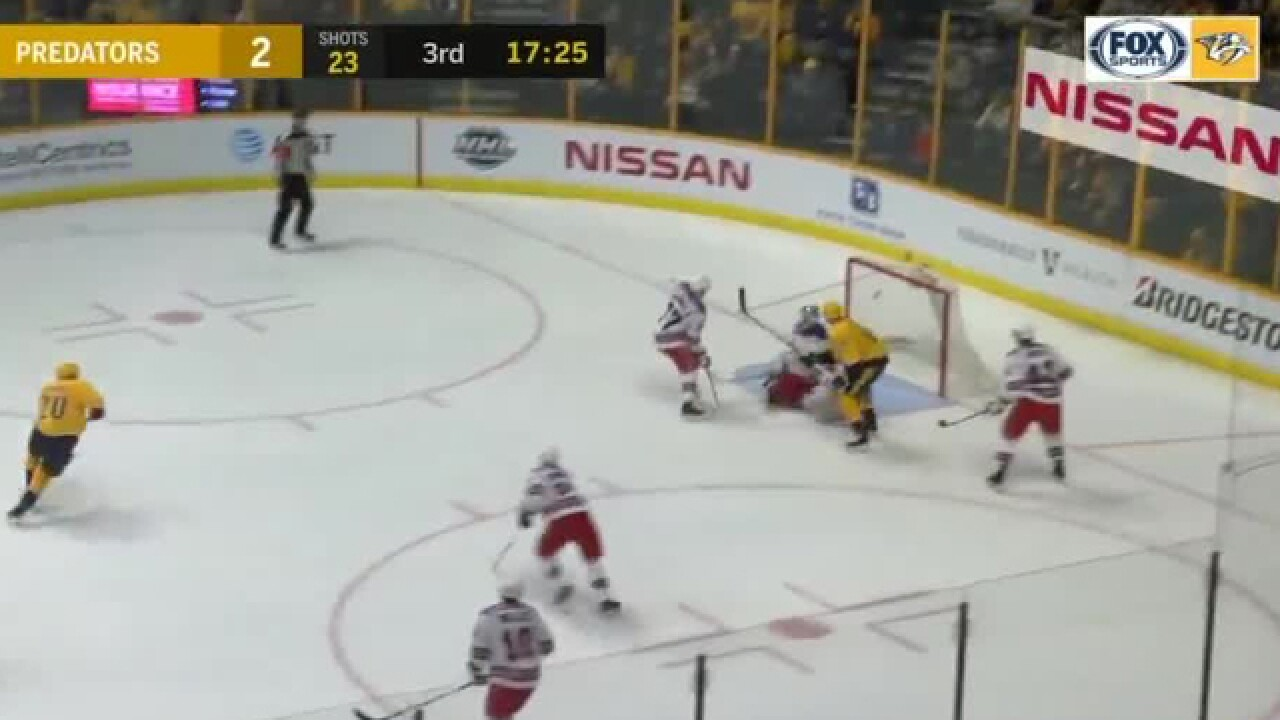 Healthy Preds Roll Past Rangers 5-2