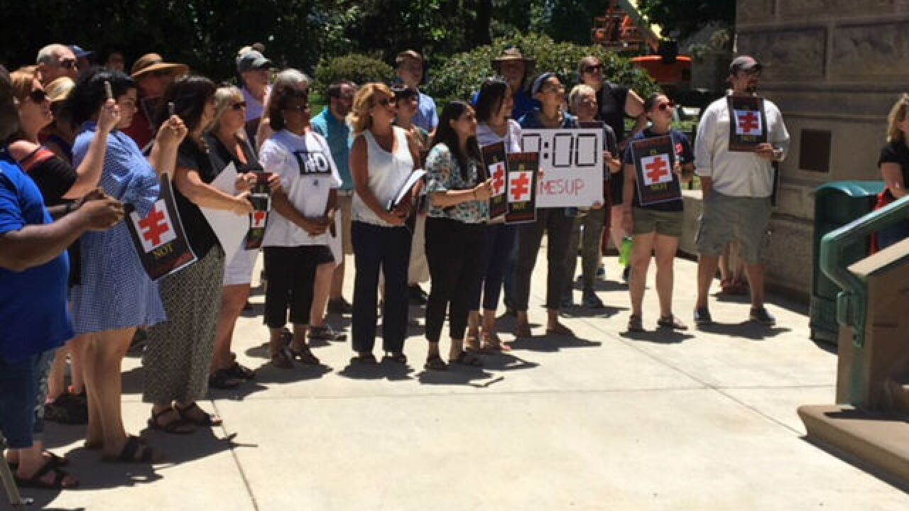 Statehouse rally calls for Curtis Hill to resign