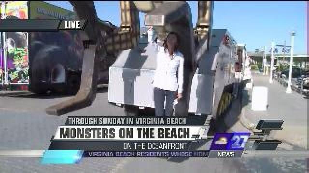 Monster trucks at the beach this weekend