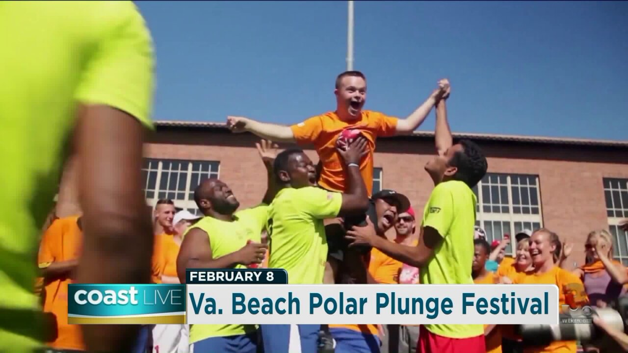 Talking with a Special Olympics athlete about the Virginia Beach Polar Plunge on Coast Live