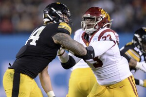 USC Trojans offensive tackle Austin Jackson at Holiday Bowl
