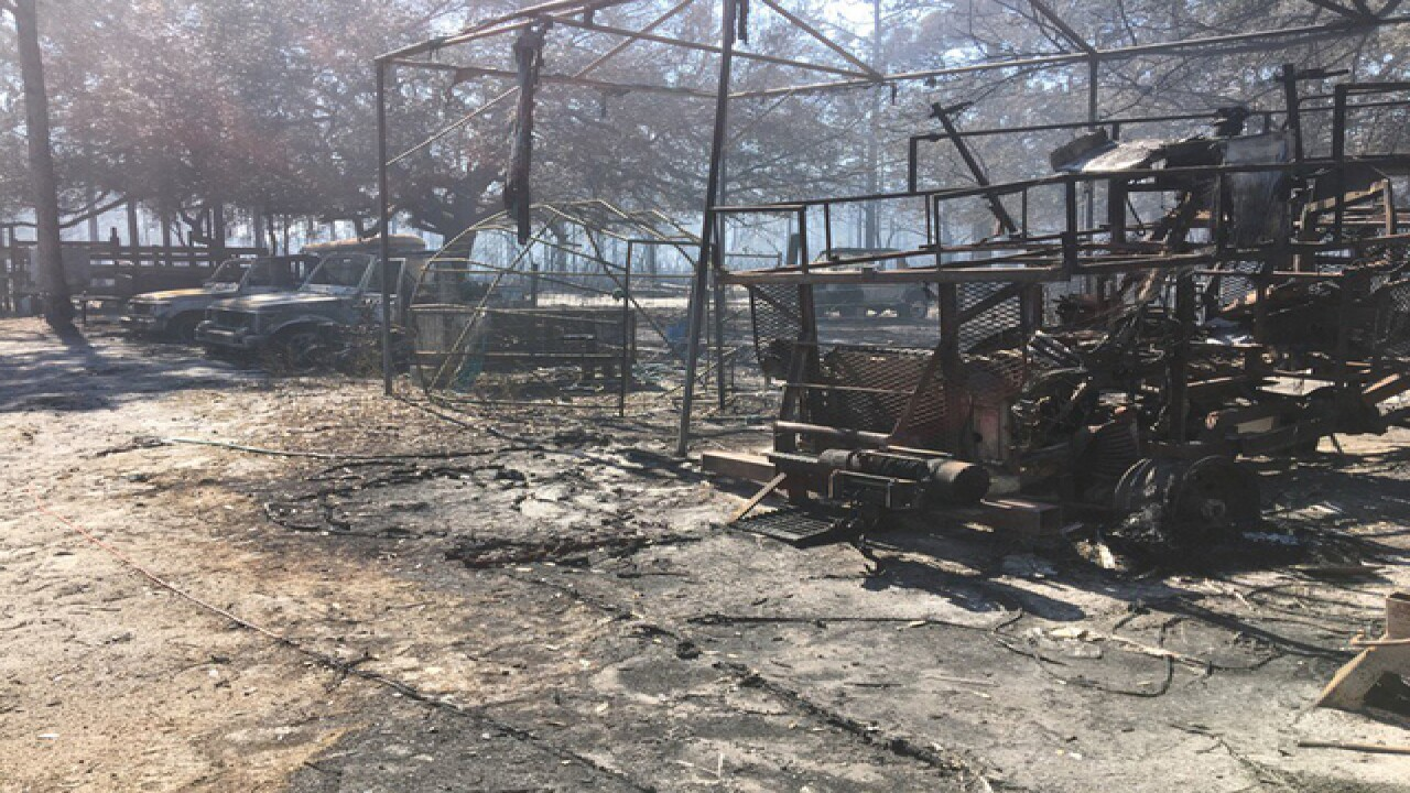 Homes destroyed, property damaged in brush fire