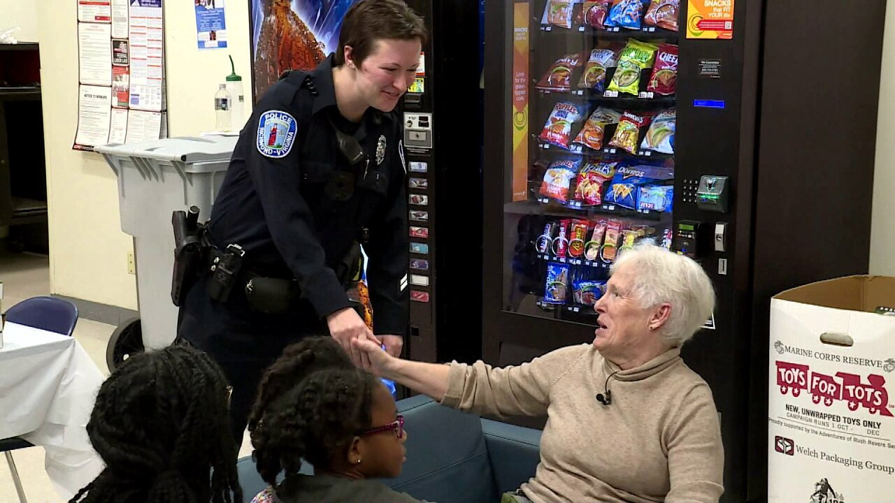 Grateful residents throw pizza party for Richmond Policeofficers