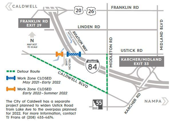 Ustick Road Overpass plans