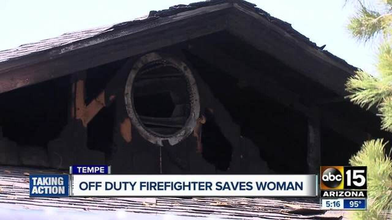 tempe woman saved from burning home by off duty tucson firefighter tempe woman saved from burning home by