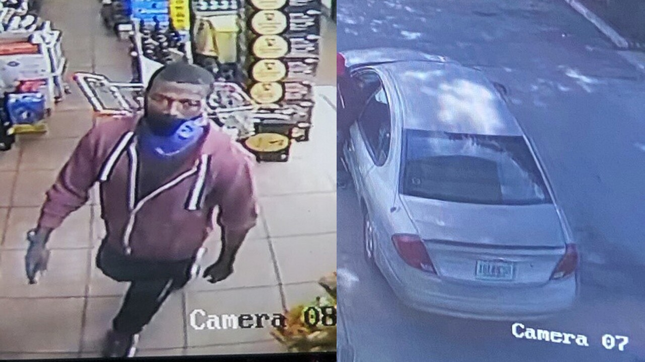 Surveillance video of Ian Jackson and stolen car
