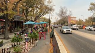 Al Fresco dining along Longmont's Main Street