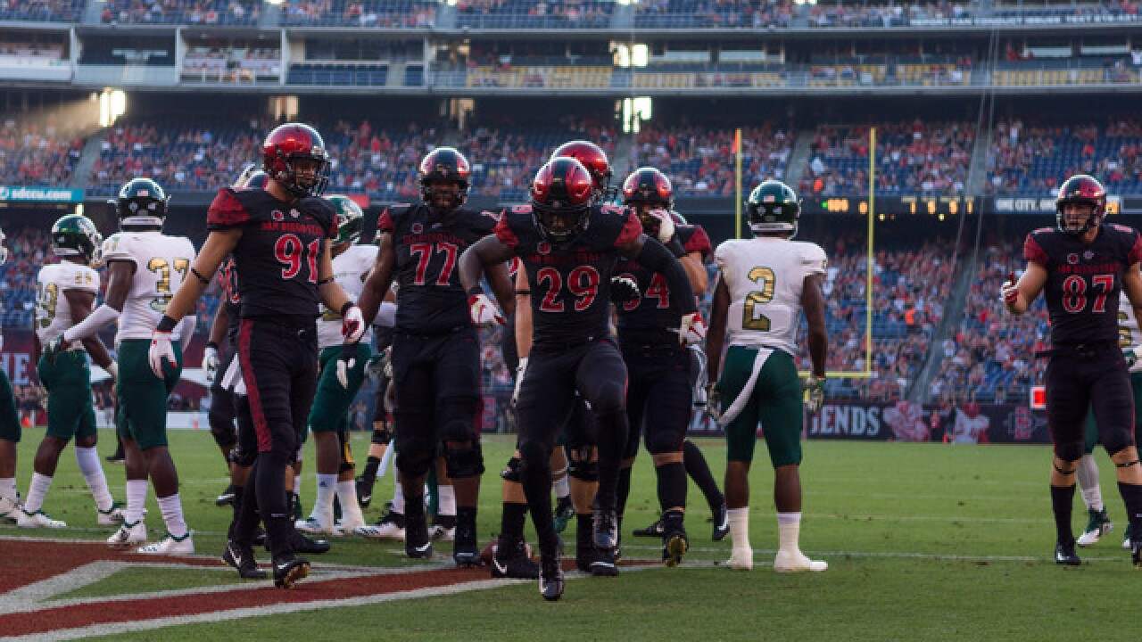 SDSU rallies late for 28-14 victory over Hornets