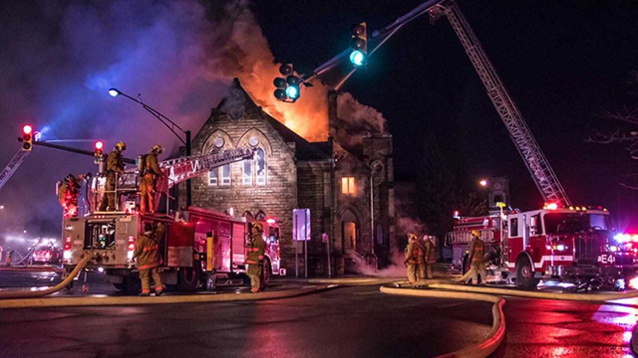 Fire destroys historic Akron church