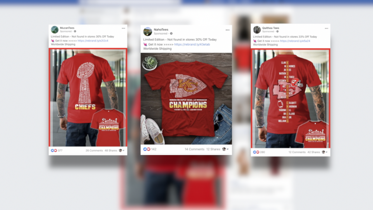 Chiefs t-shirt ads