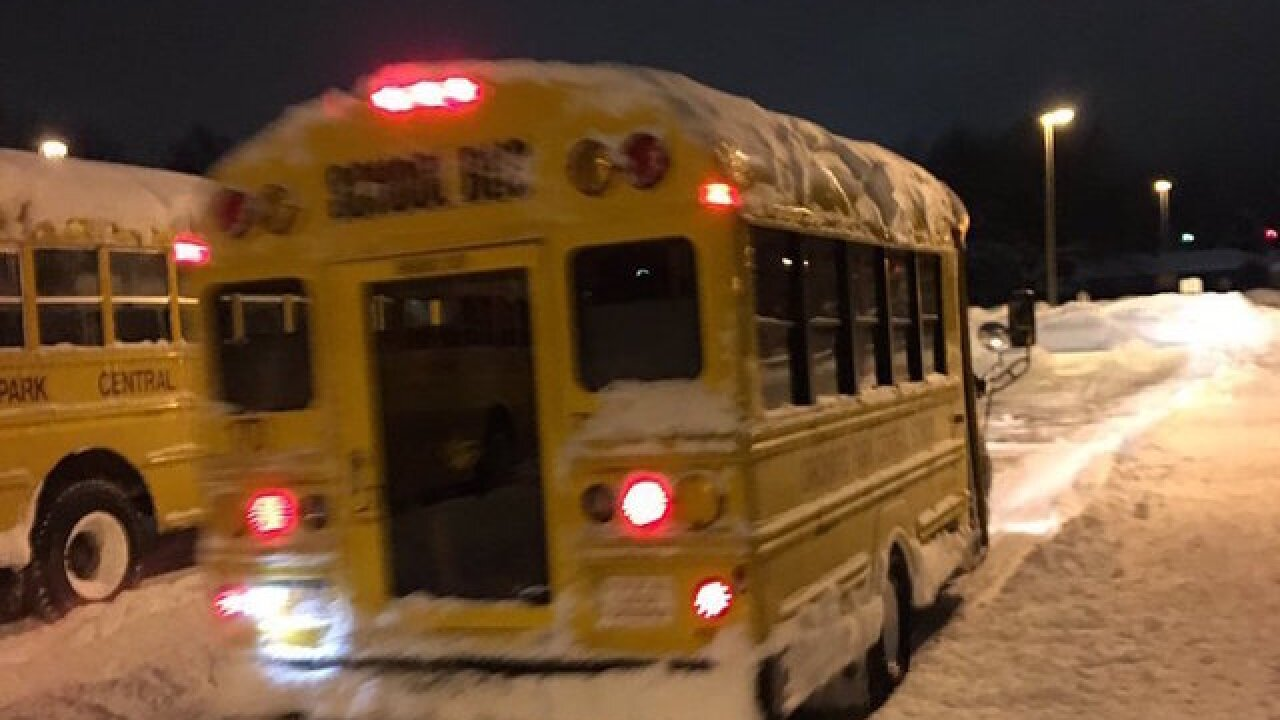 Snow day in school: Lake-effect leaves students stranded