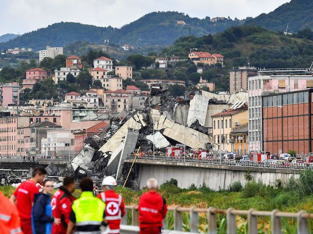 Photos: The Morandi Bridge collapse in Genoa, Italy