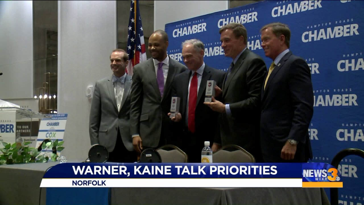 Virginia Senators Kaine and Warner worry trade war with China could triggerrecession