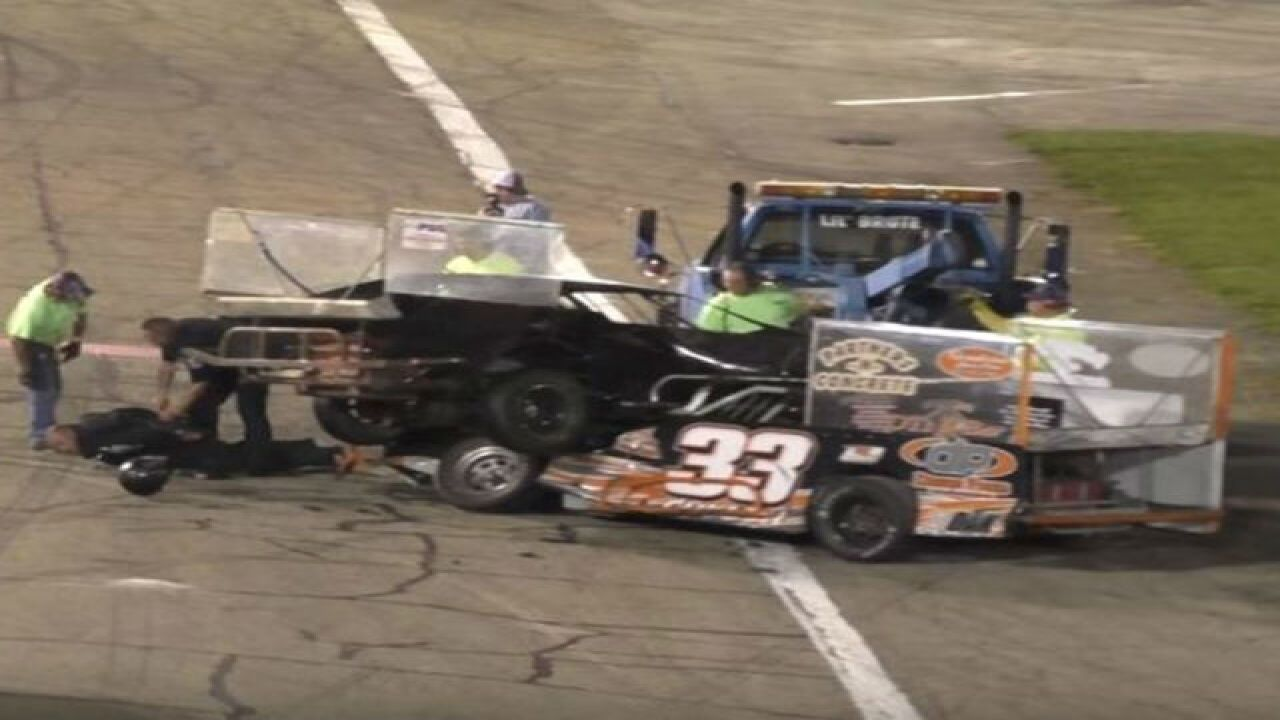 VIDEO: Race car drivers fight, arrested on track