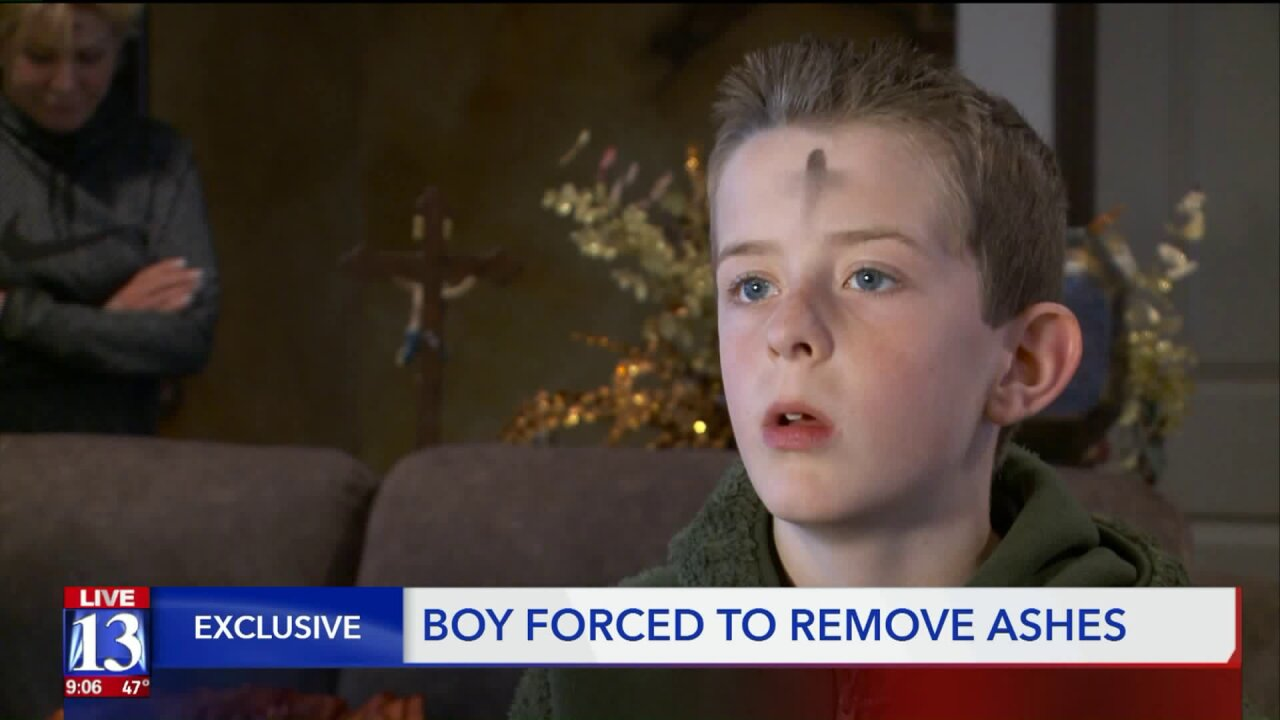 Utah teacher apologizes after making boy remove religious symbol on Ash Wednesday