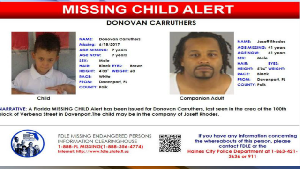 Florida Missing Child Alert issued for 7-year-old boy from