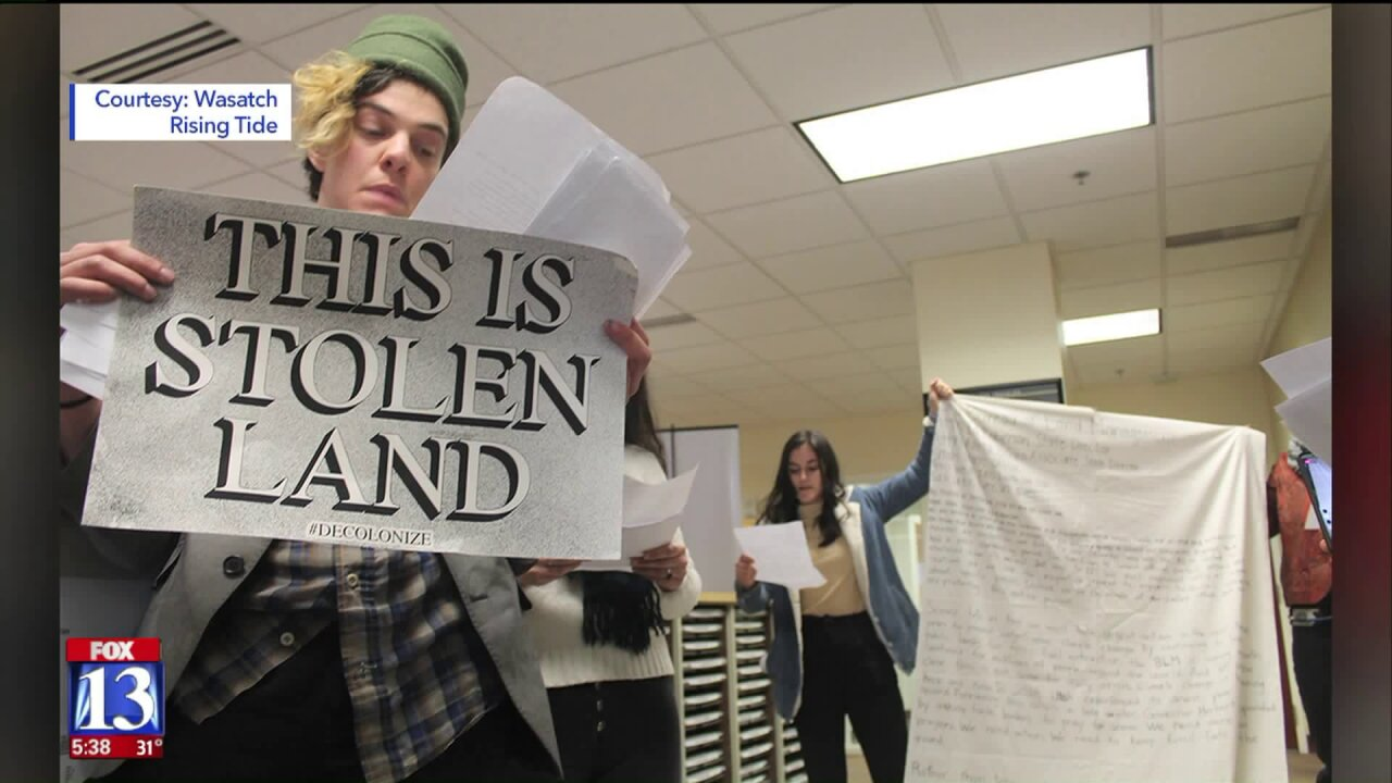 Protesters gather in downtown SLC to speak out against oil and gas leaseauction