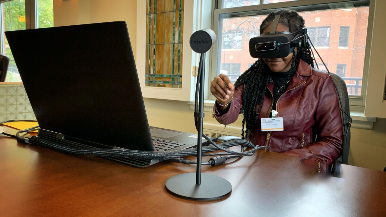 Virtual reality helps caregivers understand what it's like to have Alzheimer's
