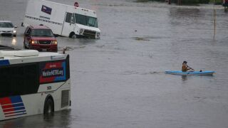 Imelda leaves 2 dead in Texas, others stranded
