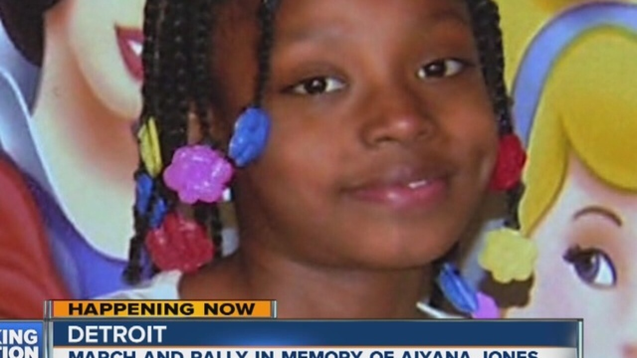 Black Lives Matter stages rally for Aiyana Jones