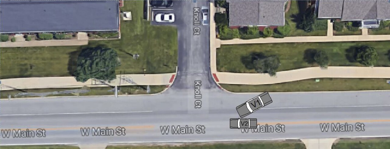 Diagram of Carmel Mayor's crash on Dec. 15 from official crash report, obtained by Call 6.