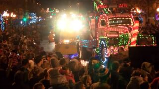 Christmas Stroll buttons now available; Parade of Lights is on Saturday