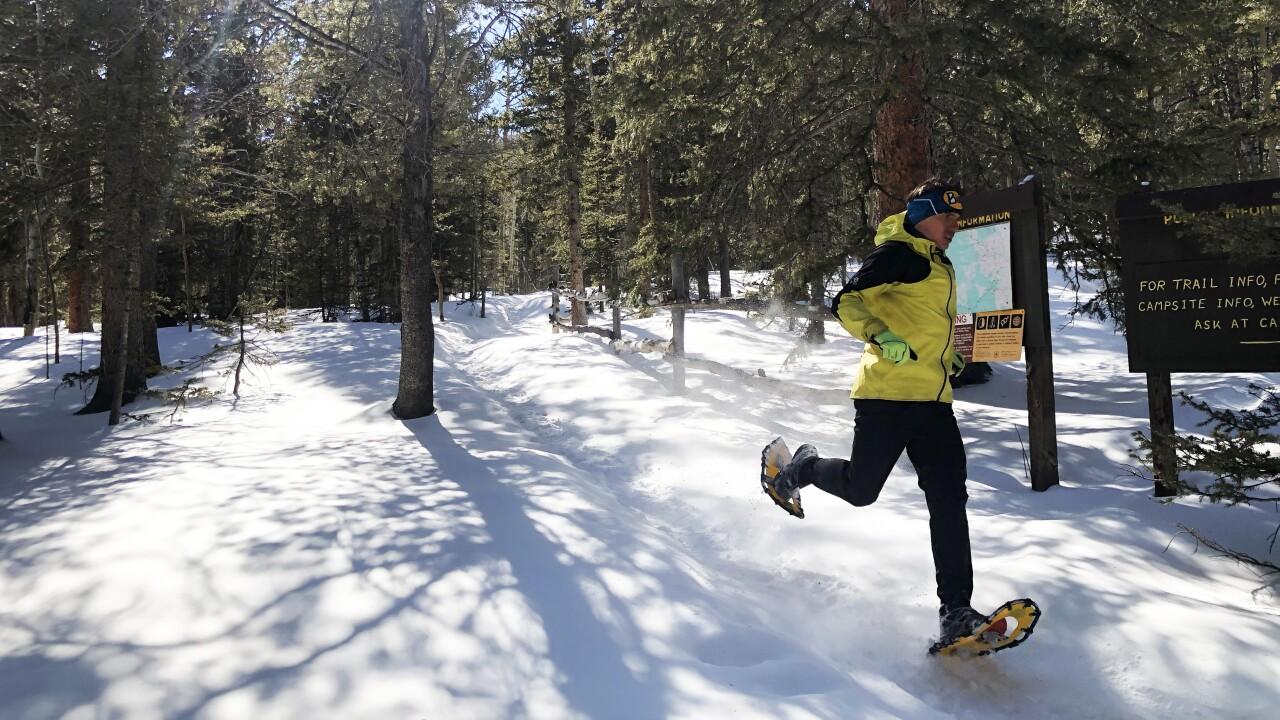 Zach Miller running outside Barr Camp