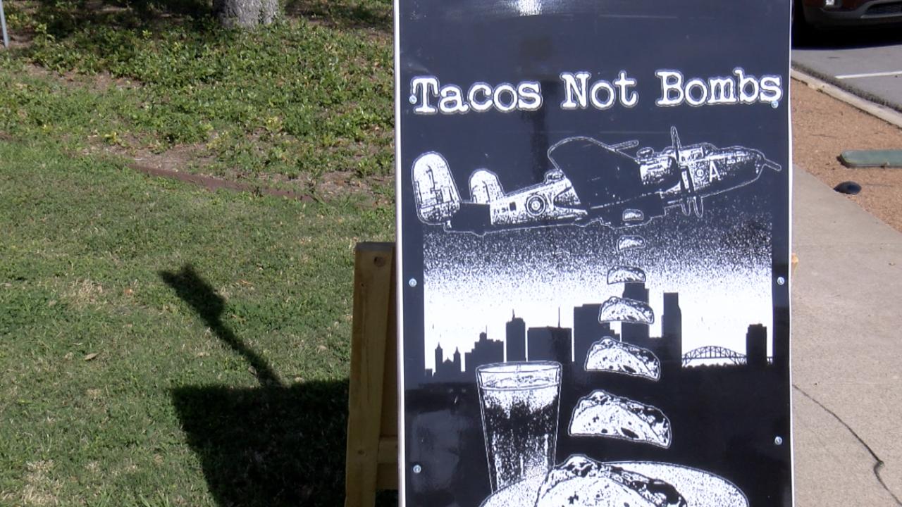 Corpus Christi Tacos Not Bombs feeding area homeless population.